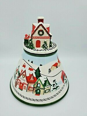 THE WHITE BARN CANDLE CO CHRISTMAS CANDLE TOPPER Rare Retired Santa Train Set