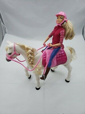 2016 Barbie Dream Horse and Doll With First Voice & Touch Activated Motions