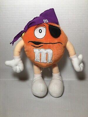 "Children's M&m Halloween Costume (8"" M&M Halloween Orange Pirate Costume Plush Stuffed Animal Toy)"