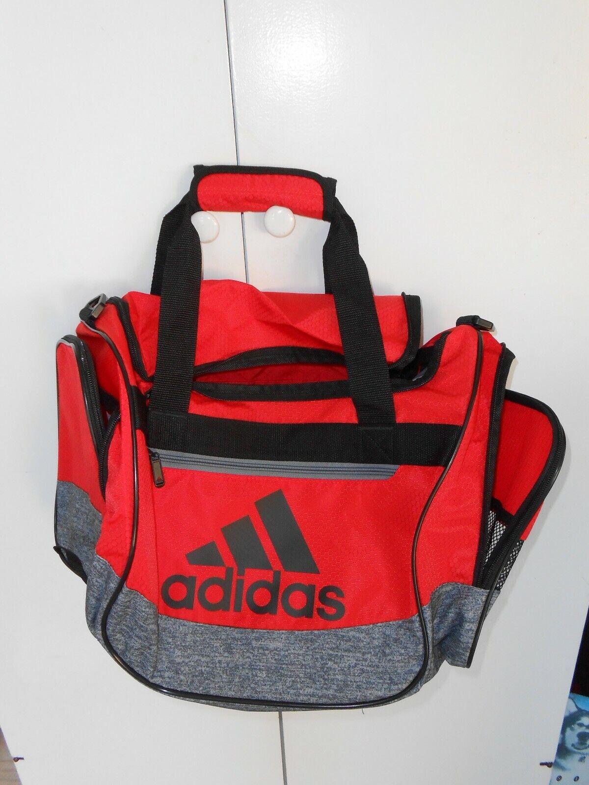 ADIDAS Black / Orange sports travel duffle bag shoulder stra