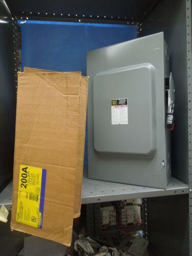 Square D H324n Heavy Duty Fusible Safety Switch 200a 3p 4w 600v Nema 1 Surplus
