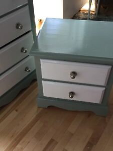 Nautical green single bedside table- 1 available