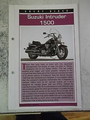 SUZUKI INTRUDER 1500 collector file fact sheet.
