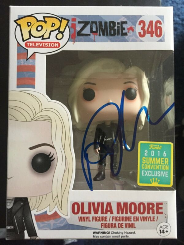 CW Izombie Rose McIver Olivia Moore Funko Pop Vinyl Autographed Signed COA B