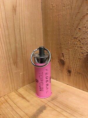 12 gauge PINK shotgun shell key ring (Pink Shotgun)