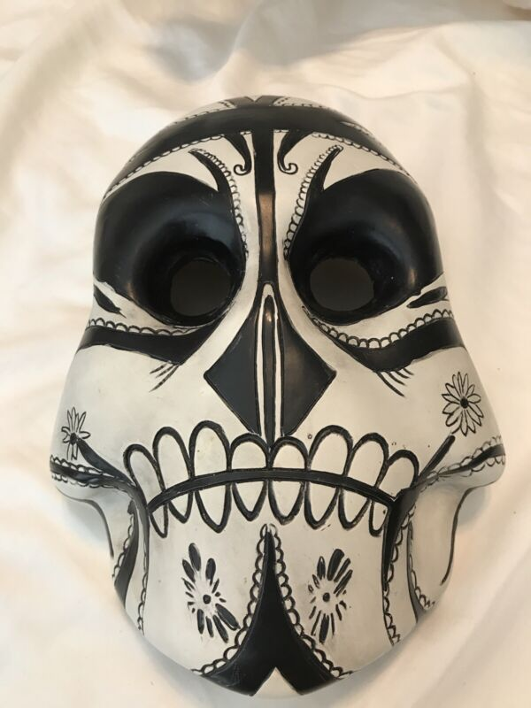 MY CHEMICAL ROMANCE*DAY OF THE DEAD BLACK PARADE MASK*GERARD WAY MASK*RARE 9'x6'