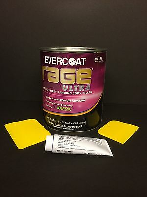 EVERCOAT RAGE ULTRA 125 WORLD'S BEST SANDING BODY FILLER + HARDENER &