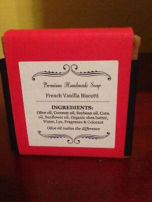 Handmade Bar Soap - Olive Oil/Shea Butter/Coconut Oil - French Vanilla Biscotti Olive French Soap