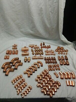New Copper Fittings - Assorted Lot Of 12 34 1 And 1 12