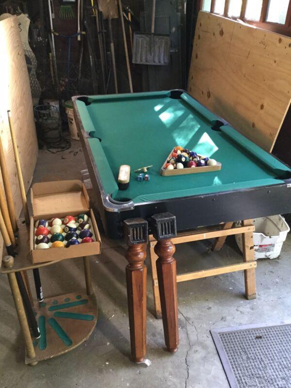 Billards Table Small Pool Table Vintage Sears