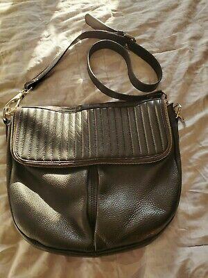 WHISTLES Black Quilted Leather  Shoulder Handbag Crossbody Messenger Bag