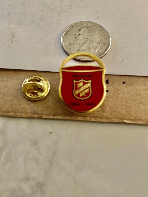 Vintage Salvation Army 100 Years Enamel Lapel Pin 1891-1991