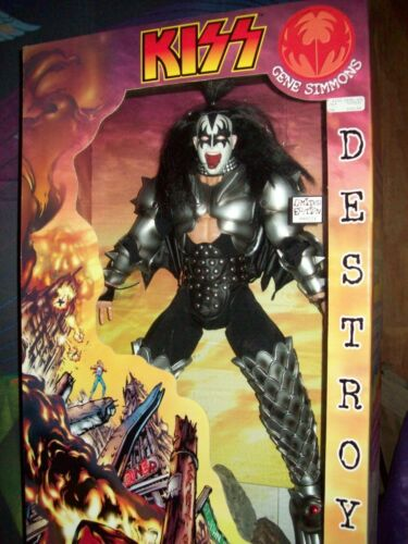 """KISS GENE SIMMONS DESTROYER 24"""" ACTION FIGURE ALIVE II LP NEW IN BOX !"""