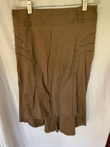 Halfon Fashion Network, size 40, brown tailored skirt