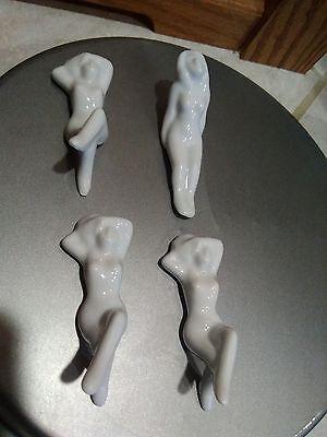Vintage Miniature Naughties Bathing Beauties Bisque Ceramic