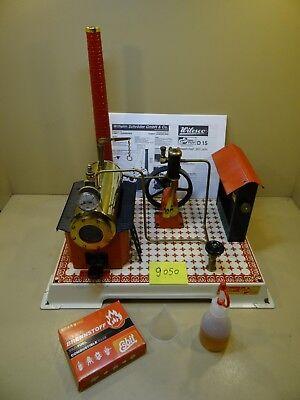 Dampfmaschine Wilesco D15 mit Fliesenmuster + Zubehör / Sehr Selten.