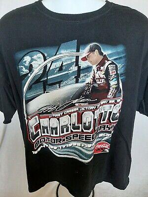 Jeff Gordon Charlotte Motor Speedway Commemorative XL T-shirt 2015 Coca-Cola 600