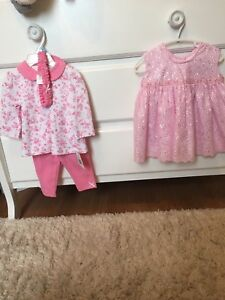2 outfit baby girl 6-9 months lot- brand new with tags