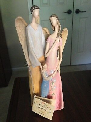 Edens Angels~Protection~Resin~301145~Angel Father Mother & Child