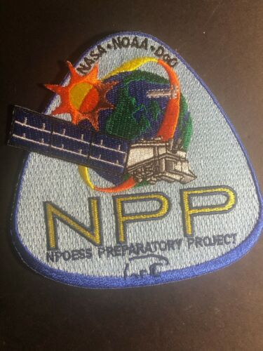 Vintage NASA NOAA / NPP NPOESS Preparatory Project Embroidered Patch