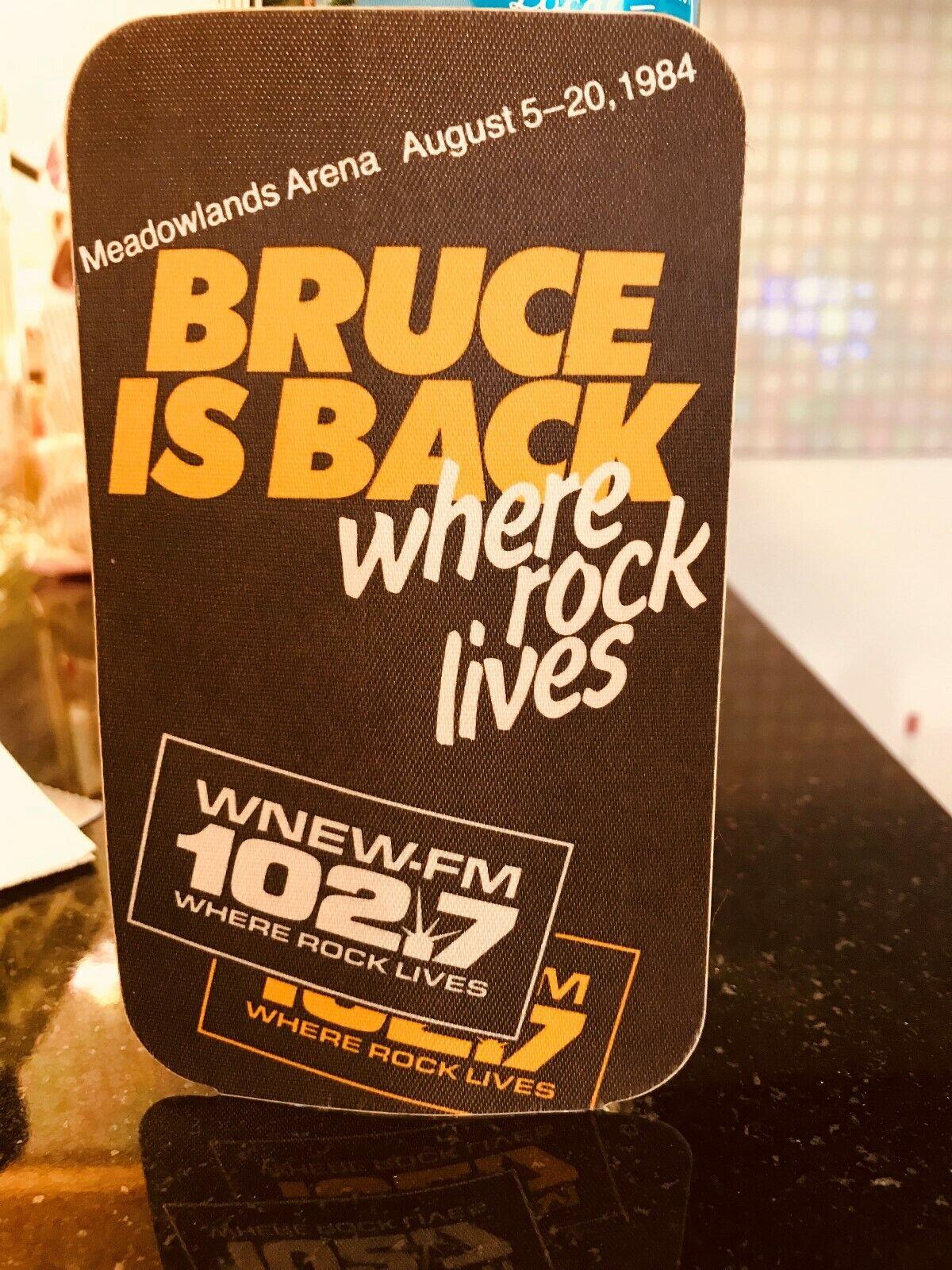Bruce Springsteen WNEW FM 102.7 Concert Sticker Wplj 95.5 1984 Tour Radio Bumper - $15.00