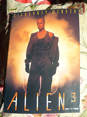 Alien 3 Japanese original Souvenir Movie Programme Sigourney Weaver RARE