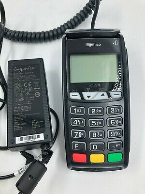 Ingenico Ict 220 Credit Card Reader With Chip Technology With Cords Tested