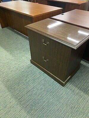 2 Drawer Lateral Size File Cabinet By Lartech In Walnut Laminate