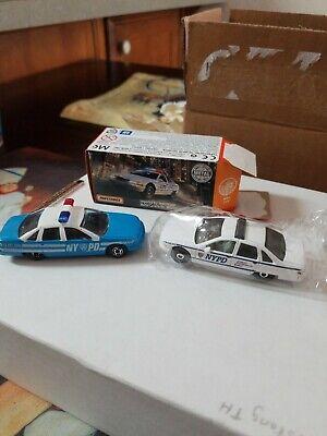 2Maisto Chevrolet chevy caprice NYPD blue police car 13 PCT 1885, White Matchbox