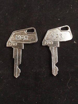 Tec Cash Register Mgr Key 2703 Set Of 2