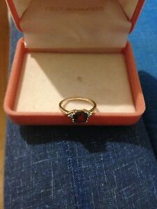 Garnet and diamond   ring Wheelers Hill Monash Area Preview