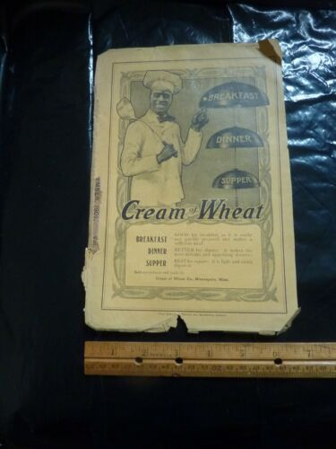 Original 1901 CREAM OF WHEAT Ad Breakfast Dinner Supper Rastus Vintage Ad (G0 15