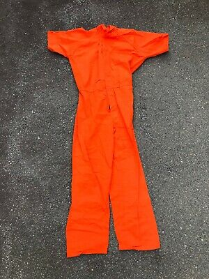 Orange Convict Costume (Inmate Jail Prisoner Convict Costume Prison Orange Jumpsuit MANY)