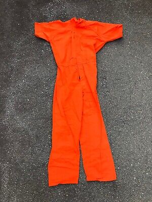Inmate Jail Prisoner Convict Costume Prison Orange Jumpsuit MANY SIZES - Prison Convict Costume