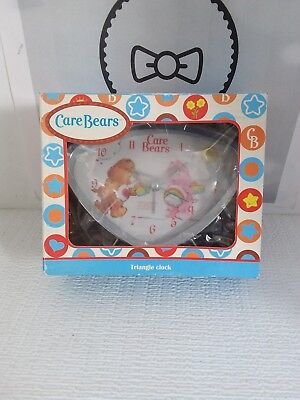 2007 American Greetings Care Bears Tenderheart Cheer Bear Triangle Clock New HTF