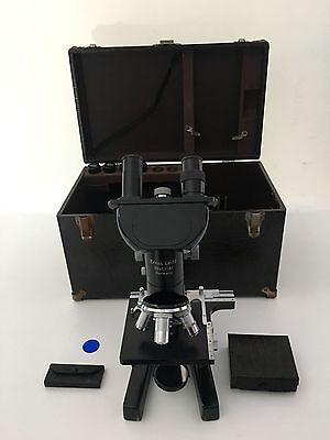 LEITZ WETZLAR Microscope Objectives Slides Case Owned by Renowned Neurologist