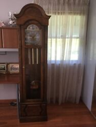 ZEELAND HOWARD MILLER OAK CASE GRANDFATHER CLOCK