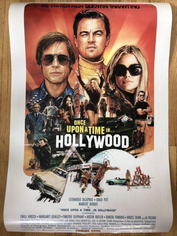 Once Upon A Time In Hollywood Movie Poster 24x36