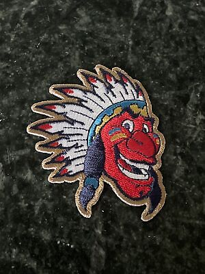 Chief Wahoo Cleveland Indians OH MLB Patch Iron On Rare logo Vtg Trucker Hat