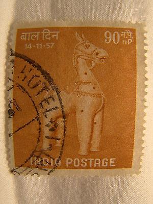 Indischem Briefmarke 1957 Scott 294 A122 Kinder Tag 90