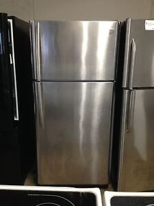 3 year old kenmore stainless fridge