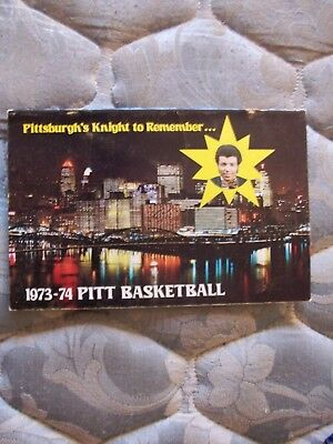 1973 74 Pitt Panthers Basketball Media Guide Yearbook Billy Knight 1974 Book Ad