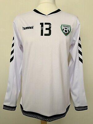Afghanistan 2016 away #13 match worn Hummel rare football shirt jersey maillot image