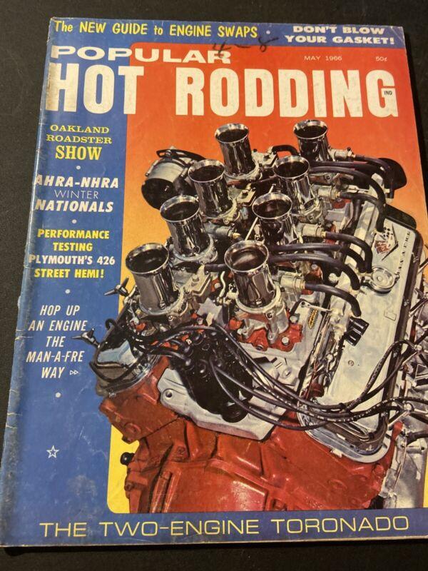 Vintage Popular Hot Rodding~ May 1966 The Two-Engine Toronado