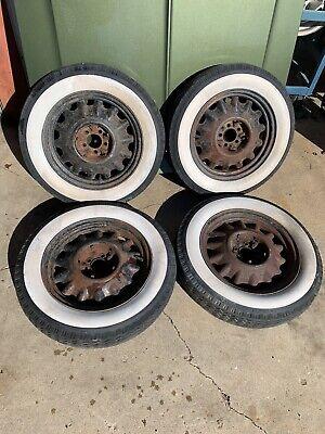 17 Inch Artillary Style Steel Wheels Rims Set of 4 Early Chrysler 5 On 4 J16336