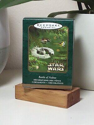 2001 Hallmark Ornament Miniature Star Wars Battle Of Naboo 3 Ships