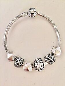 PANDORA bracelet with charms 17cm Port Adelaide Port Adelaide Area Preview