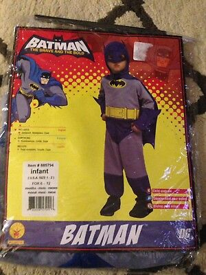 DC Classic Blue and Grey Batman Costume for Toddlers 6 - 12 Months Halloween - Batman Halloween Costumes For Toddlers