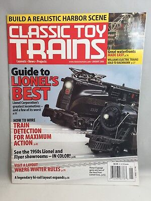 Classic Toy Trains January 2008 Issue Lionels Best Locomotives 1950S Showrooms