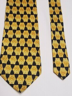 Gianni Versace silk symmetric necktie tie (I2)